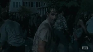 No Way Out- Rick leads the charge in taking down the walkers