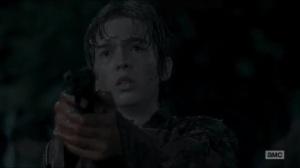 No Way Out- Ron points a gun at Rick