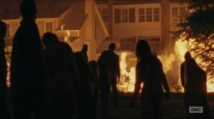 No Way Out- Walkers walk to the fire