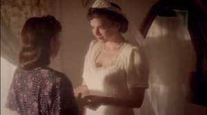Smoke and Mirrors- Peggy in her wedding dress