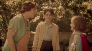 Smoke and Mirrors- Young Peggy Carter, played by Gabriella Graves, and Michael Carter, played by Webb Hayes, scolded by Mom