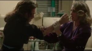 The Atomic Job- Whitney grabs Peggy's arm