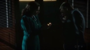 The Edge of Mystery- Peggy asks Thompson what he remembers before he was brainwashed