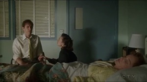 The Edge of Mystery- Peggy consoles a worried Edwin while Ana rests