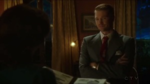 The Edge of Mystery- Thompson presents a file to Peggy