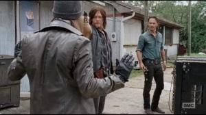 The Next World- Paul Rovia, AKA Jesus, played by Tom Payne, runs into Rick and Daryl