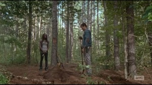 The Next World- Spencer and Michonne lay Deanna to rest