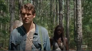 The Next World- Spencer asks why Michonne is following him