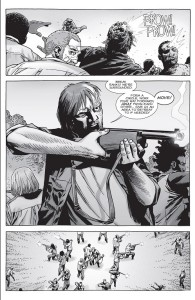 The Walking Dead #151- Dwight gives orders to the group