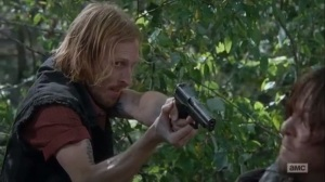 East- Dwight about to shoot Daryl