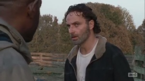 East- Rick learns that Morgan let one of the Wolves live