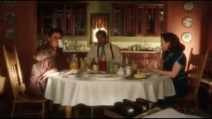 Hollywood Ending- Howard, Jason, and Peggy have breakfast