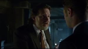 Mad Grey Dawn- Bullock tells Gordon that he's the prime suspect in Galavan's murder