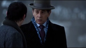 Mad Grey Dawn- Elijah Van Dahl, played by Paul Reubens, learns that Oswald is his son