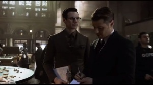 Mad Grey Dawn- Nygma congratulates Gordon on solving the case