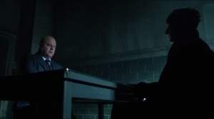Mr. Freeze- Barnes speaks with Penguin in interrogation