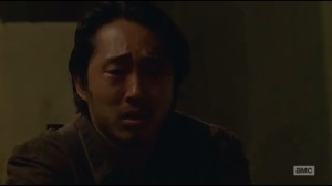 Not Tomorrow Yet- Glenn murders a sleeping Savior