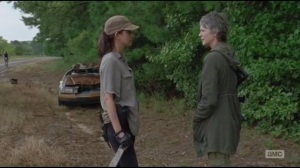 Not Tomorrow Yet- Rosita is still pissed at Morgan and tells Carol as much