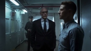 Prisoners- Warden Carlson Grey, played by Ned Bellamy, speaks with Jim