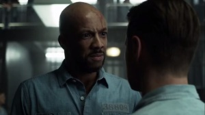 Prisoners- Weaver, played by Christian Frazier, gets rough with Jim