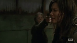 The Same Boat- Maggie shoots one of the Saviors