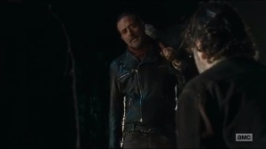 Last Day on Earth- Negan, played by Jeffrey Dean Morgan, makes his first appearance