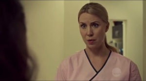The Stigmata of Progress- Leslie, played by Siobhan Murphy, mistakes Sarah for Beth