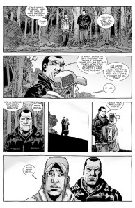The Walking Dead #153- Brandon and Negan at the Whisperers' border