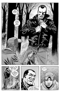 The Walking Dead #153- Brandon gives Negan his jacket