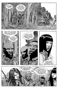 The Walking Dead #153- Magna, Yumiko, Connie and Kelly argue about life in Alexandria