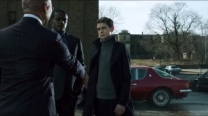 A Legion of Horribles- Strange greets Bruce Wayne and Lucius Fox
