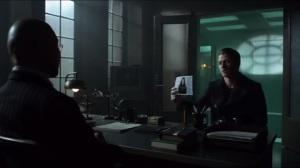 Azrael- Jim asks Hugo Strange about Karen Jennings