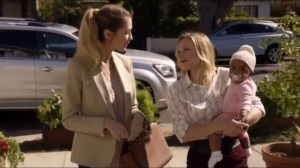 End State Vision- Jeannie tells the realtor, played by Emily Kosloski, that her baby came from her vagina