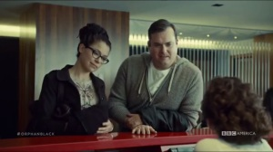 Human Raw Material- Cosima and Donnie enter Brightborn for an appointment