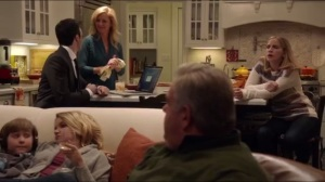 Thanksgiving- Amy's father, played by Jim O'Heir, thinks Dan wants to have sex with his wife