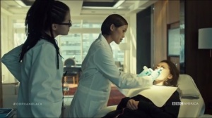The Scandal of Altruism- Evie and Cosima work on Sarah's mouth
