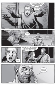 The Walking Dead #154- Andrea rants about propaganda before finding an injured Rick