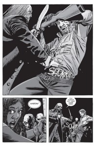 The Walking Dead #154- Beta stabs Aaron