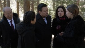 Camp David- Catherine tells the Chinese delegation that she is a raw vegan