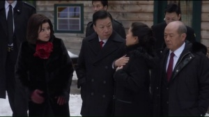 Camp David- Selina takes the Chinese delegation on a walk