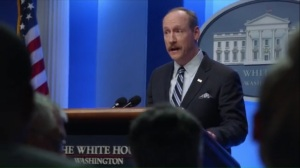 Congressional Ball- Mike drops some hockey talk into his press briefing