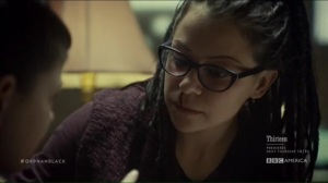 From Dancing Mice to Psychopaths- Charlotte points out Cosima's nosebleed