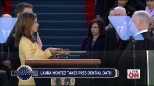 Inauguration- Laura Montez takes the Oath of Office