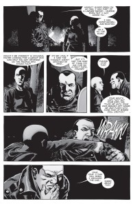 The Walking Dead #155- Alpha punches Negan