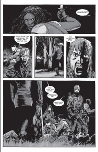 The Walking Dead #155- Dwight tells Michonne to get Aaron to safety