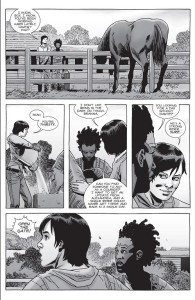 The Walking Dead #155- Maggie talks to Brianna about a potential courier