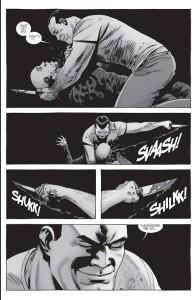 The Walking Dead #156- Negan hacks at Alpha