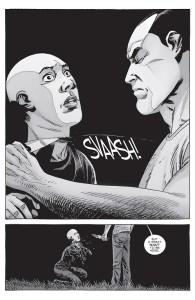 The Walking Dead #156- Negan slashes Alpha's throat