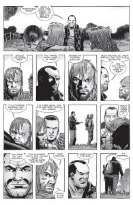 The Walking Dead #157- Negan approaches Dwight's group