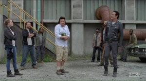 hostilities-and-calamities-eugene-surrounded-by-negan-and-saviors
